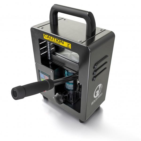 Graspresso - 5T Rosin Press mit 5 Tonnen Hydraulik Zylinder - Kolophonium Presse, 12 x 6 cm Platten