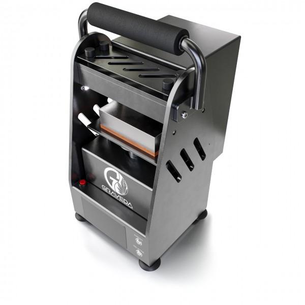 Graspresso - 3t Rosin Press mit 3 Tonnen Hub-Zylinder, Kolophonium Presse, 12 x 7,5 cm Platten