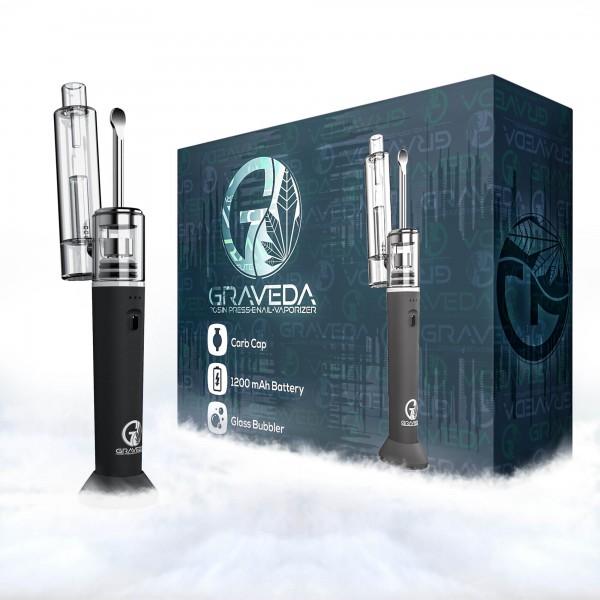 Graveda Erig Dabton Mini, mobile E-Rig mit Glasaufsatz / Vaporizer Verdampfer für Extrakte, portable
